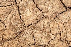 破裂的土壤地面 镇压纹理在干燥地球的 免版税库存照片