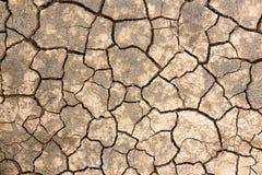 破裂的土壤纹理 图库摄影
