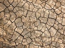 破裂的土壤纹理 免版税库存图片