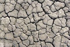 破裂的地球在一条干河 库存图片