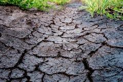 破裂的地球天旱 免版税库存图片