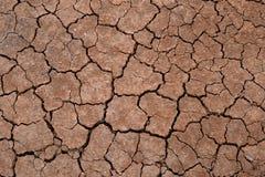 破裂的地球纹理  没有水的旱田 设计的背景在生态的概念的题材 免版税图库摄影