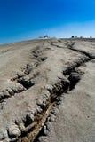 破裂的地面泥泞的罗马尼亚火山 免版税图库摄影