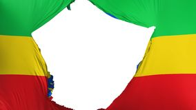 破裂的埃塞俄比亚旗子 向量例证