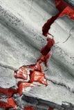 破裂的墙壁 免版税图库摄影