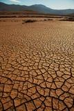 破裂的天旱土地 免版税图库摄影