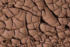 破裂的干泥 免版税库存照片