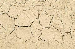破裂的干燥地球顶视图 库存图片