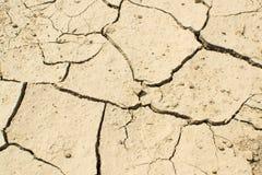 破裂的干燥地球顶视图 免版税库存图片