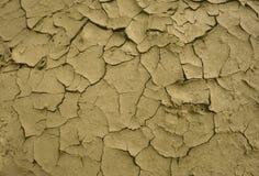 破裂的干燥地球 沙漠 背景 它热的` s,在行星的水全球性短缺 免版税库存图片