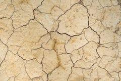 破裂的干燥棕色土壤背景,全球性变暖作用 免版税库存照片