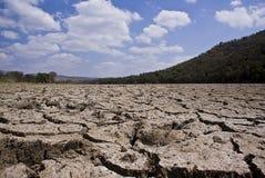 破裂的干燥河床 免版税图库摄影