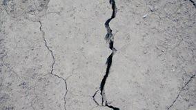 破裂的干陆在沙漠 股票视频
