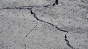 破裂的干陆在沙漠 影视素材