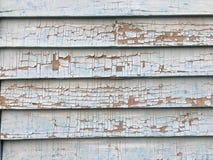 破裂的油漆纹理房屋板壁 图库摄影