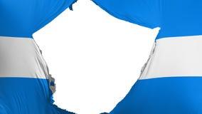 破裂的洪都拉斯旗子 皇族释放例证