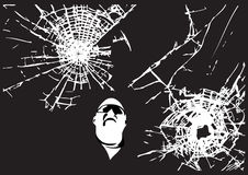 破裂的玻璃模式 向量例证