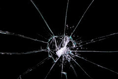 破裂的玻璃 免版税图库摄影