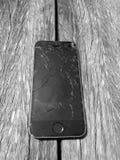 破裂的电话屏幕 免版税库存照片