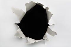 破裂的空的漏洞墙壁 库存图片