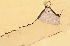 破裂的纹理墙壁 库存图片