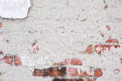 破裂的葡萄酒老墙壁背景 库存照片
