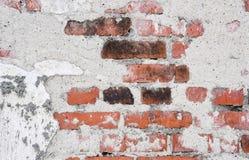 破裂的葡萄酒老墙壁背景 免版税库存照片