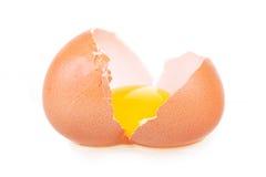 破裂的蛋重点查出象查找形状 库存图片