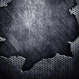 破裂的金属 免版税图库摄影
