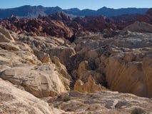 硅土圆顶观点,火国家公园谷  免版税图库摄影