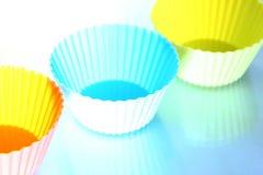 硅蛋糕盘子 免版税库存照片