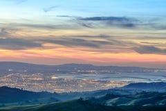 硅谷视图从上面 免版税库存照片