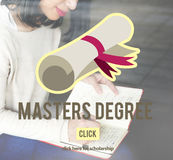硕士学位知识教育毕业概念 图库摄影