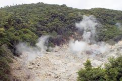 硫磺出气孔 库存图片