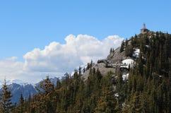 硫磺山在小山的气象台 航寄 加拿大 库存图片
