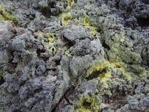 硫磺岩石 库存图片