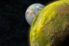 硫磺月亮 库存图片