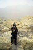 硫磺矿 免版税库存图片