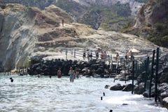 硫磺群岛西西里岛 免版税库存图片