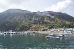 硫磺群岛西西里岛 库存图片