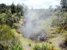 硫磺蒸汽出气孔,夏威夷火山国家公园 免版税库存照片