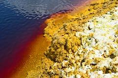 硫磺水晶 库存图片
