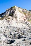 硫质喷气孔-火山的火山口 库存照片