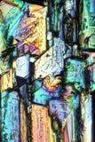 硫酸铜水晶摘要 免版税库存图片