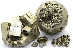 硫铁矿标本 免版税库存图片