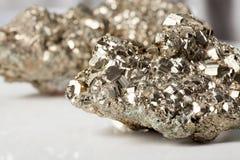 硫铁矿特写镜头 免版税库存图片