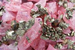 硫铁矿石英 库存图片
