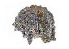硫铁矿美丽的群 免版税库存图片