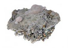 硫铁矿美丽的群 免版税库存照片
