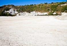 硫质喷气孔-火山的火山口 库存图片